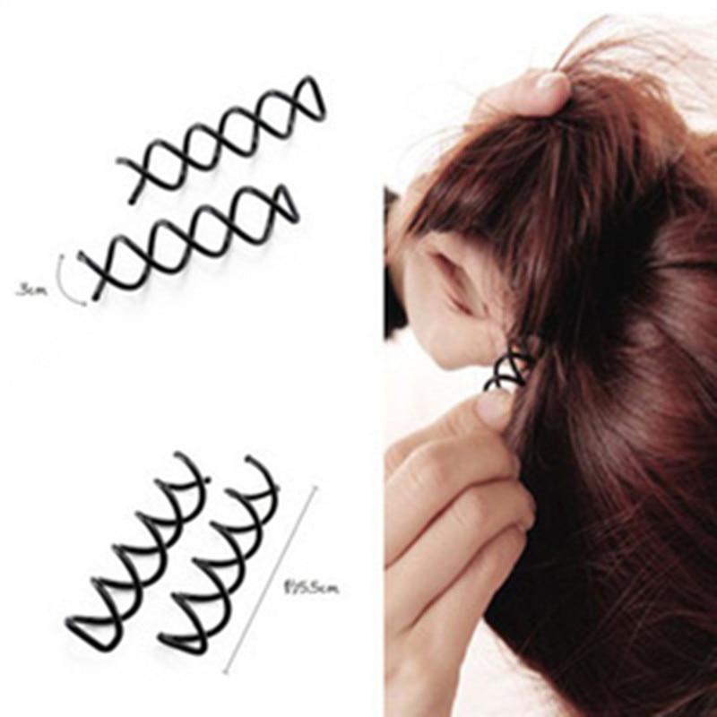10 unids/set espiral tornillo Pin Clip de pelo giro de horquilla Barrette negro accesorios de pelo placa hecha herramientas joyería nupcial
