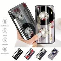 hot classical old cassette tape black rubber cell phone cover case for samsung j4 j6 j5 j7 2016 note 5 8 9 10 lite plus 20 ultra