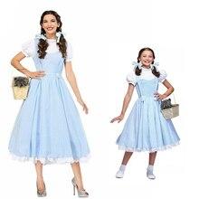 Adulte enfants Style Vintage le magicien doz Dorothy Cosplay Costume pour les femmes Halloween vêtements pour dame filles déguisement