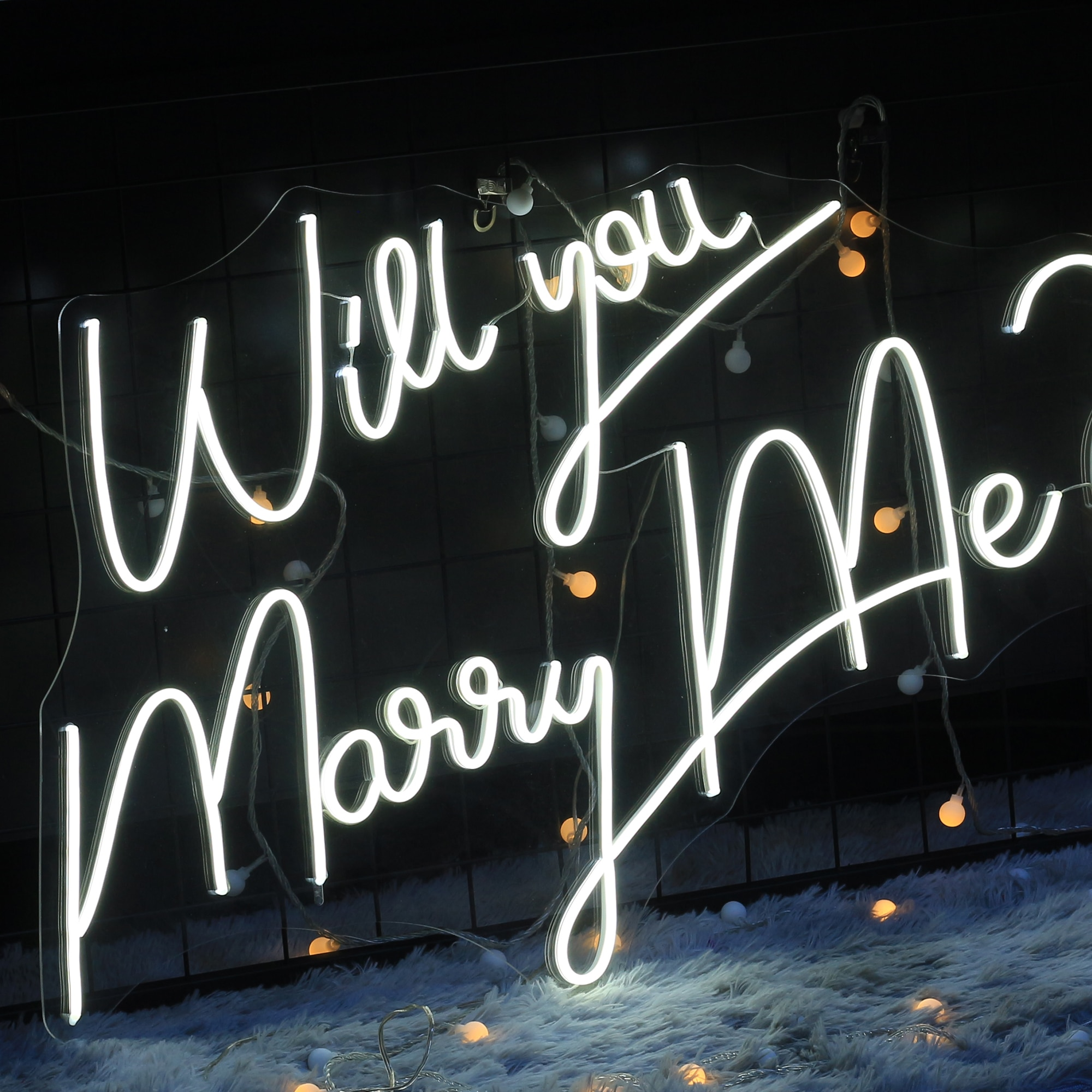 Neon sign custom Will you marry me? sign light for proposal wedding ceremony site special decoration