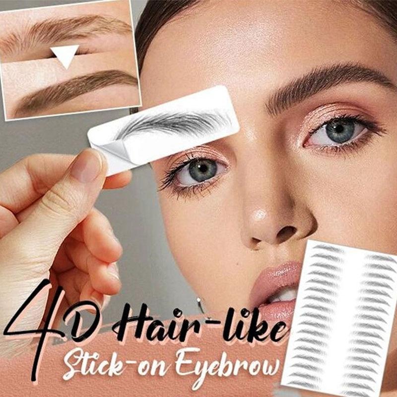 NEW Magic 4D Hair-like Eyebrow Tattoo Sticker False Eyebrows Waterproof Lasting Makeup Water-based Eye Brow Stickers Cosmetics