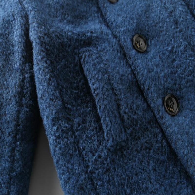 Пальто шерстяное для мальчиков, Осень-зима 2020, новое модное шерстяное пальто для маленьких мальчиков, Модное детское пальто, шерстяное пальто для мальчиков, верхняя одежда-5