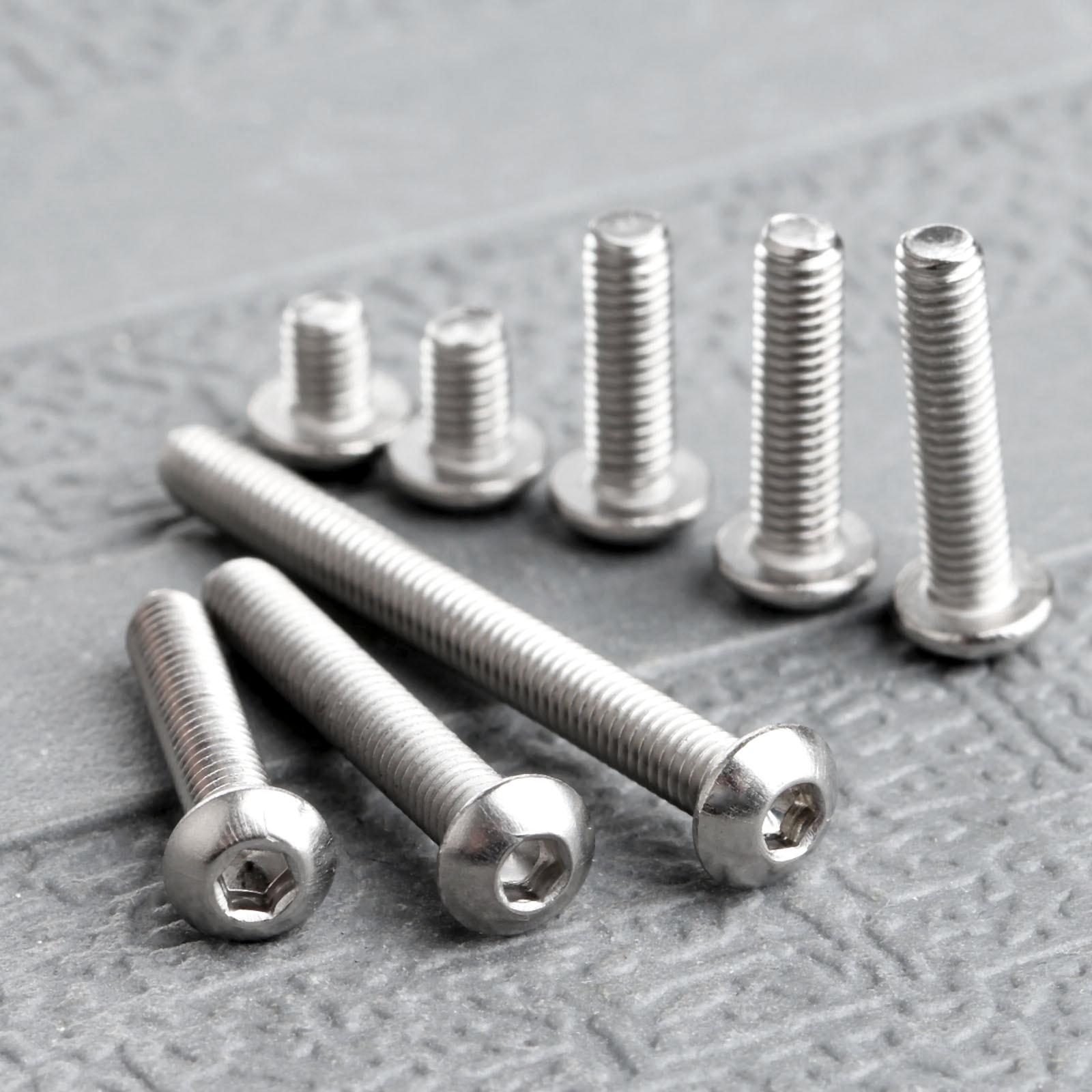 50Pc vis en acier inoxydable douille hexagonale tête ronde M3 vis boulon fixation de meubles M3 * 4mm/5mm/10mm/12mm/14mm/16mm/20mm/30mm