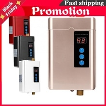 4 Gears 110-240V Instant Electric Mini Tankless Water Heater Hot Instantaneous Water Heater System f
