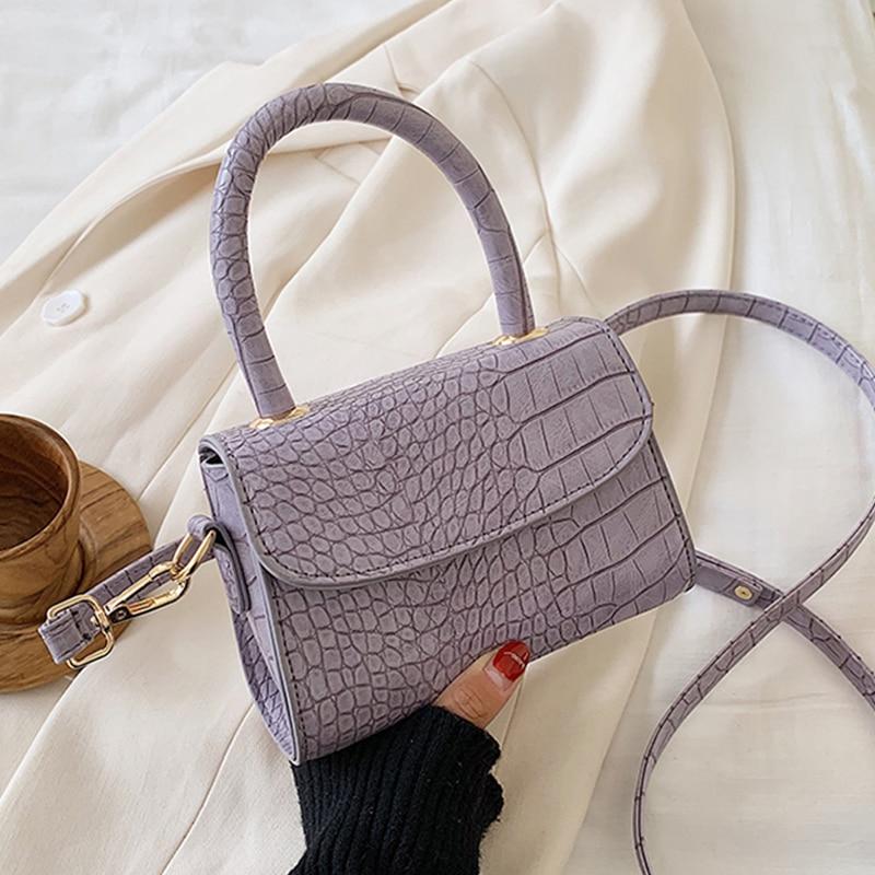 De cocodrilo mini bandolera bolsas para las mujeres 2020 PU bolso de cuero pequeños, Bolso saco principal mujer damas Diseñador de Bolsos de noche