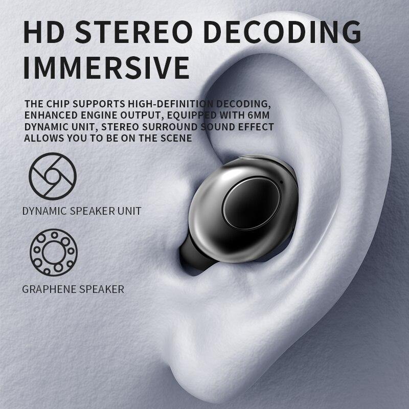 H8 Wireless Earphone TWS Bluetooth 5.0 Headphones Stereo Bass Headset For Sport Xiaomi Samsung Huawei iPhone Phones enlarge
