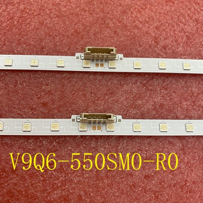 كيت 2 قطعة LED بار لسامسونج QE55Q67RAT QN55Q60RAF QN55Q60RAG QN55Q60 BN61-16156A V9Q6-550SM0-R0 19Y_Q60_STC550AZ8 BN96-48109A