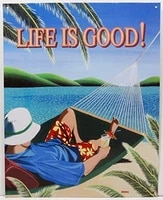 life is good paradise island beach metal sign look vintage style metal sign 8x12 inch
