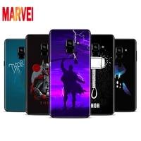 marvel thor logo art soft tpu for samsung galaxy a8 a9 a7 a750 a6 a5 a3 a6s a8s star plus 2016 2017 2018 black phone case