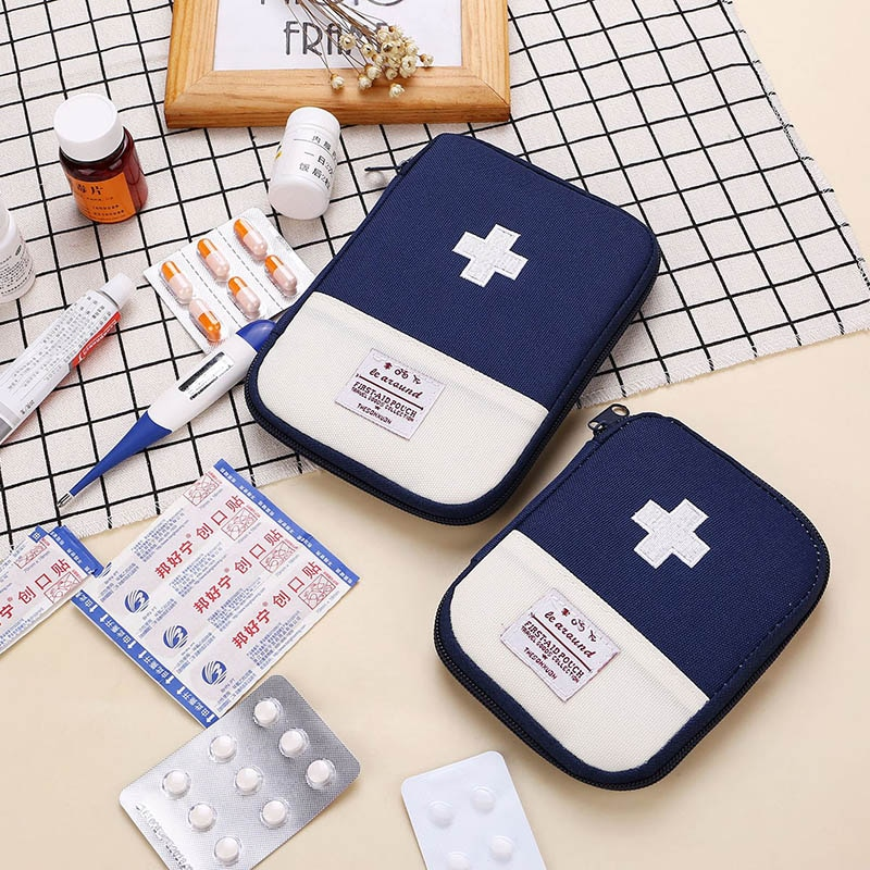 Travel Accessories Portable Function First Aid Kit Emergency Drug Cotton Fabric First Aid Medicine Bag Pill Case Splitters Box