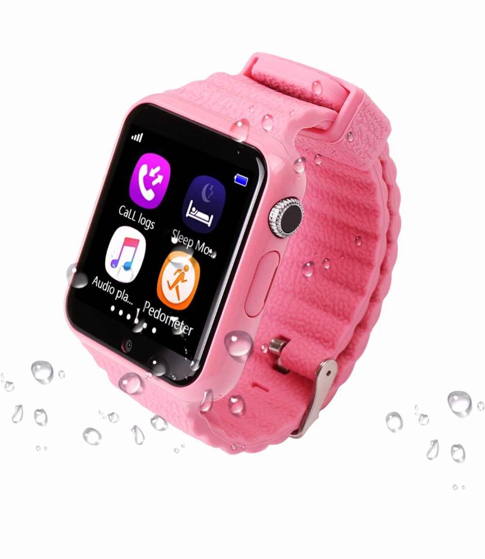 As Crianças Assistem Tracker Devicer V7k Câmera à Prova D água Chamada Sos Localização Dos Miúdos Relógios De Rastreamento Gps Relógio V7k 1pcs Relógios Infantis Aliexpress