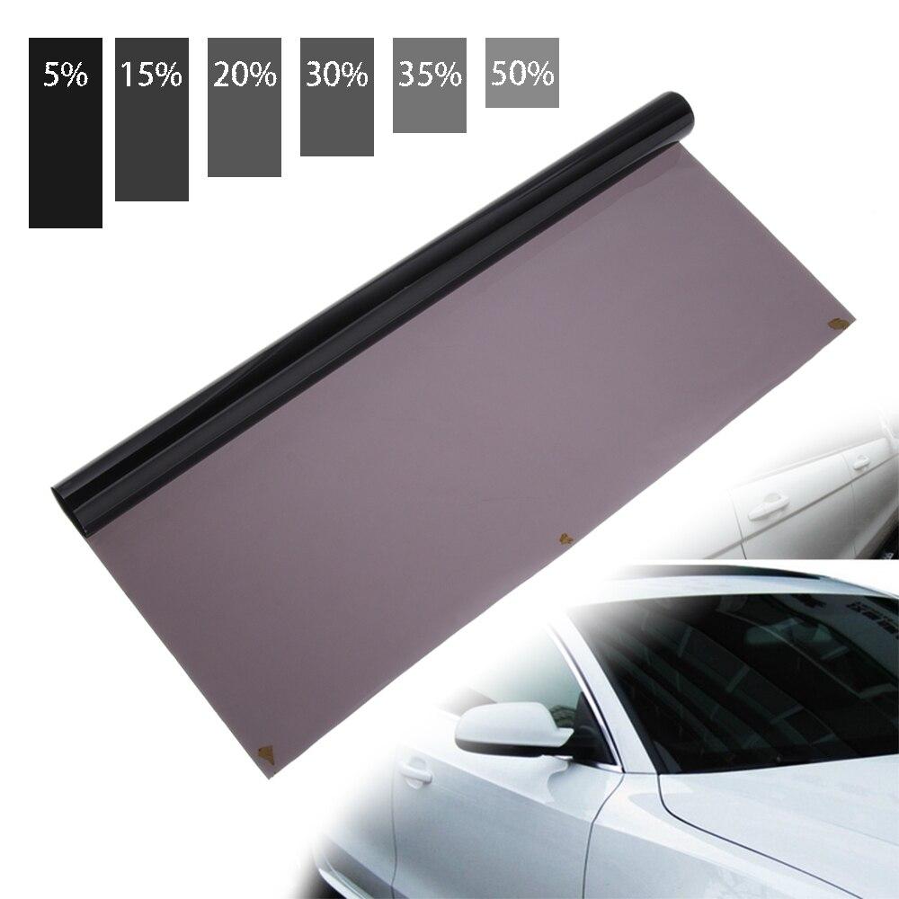 UV Protector Aufkleber Filme 100/300/600*50CM VLT Schwarz Auto Fenster Tönung Tönung Film Roll Auto Hause fenster Glas Sommer Solar