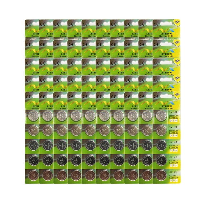 250 قطعة 3 فولت CR2032 خلية زر الليثيوم بطارية BR2032 DL2032 CR2032 زر عملة خلية BatteriesFor الساعات الساعات آلة حاسبة