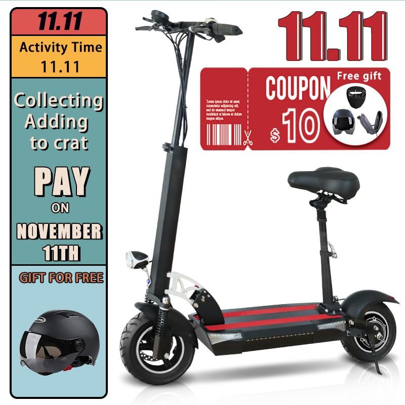 Patinete eléctrico para Adulto, Scooter plegable con batería opcional de 10 pulgadas,...