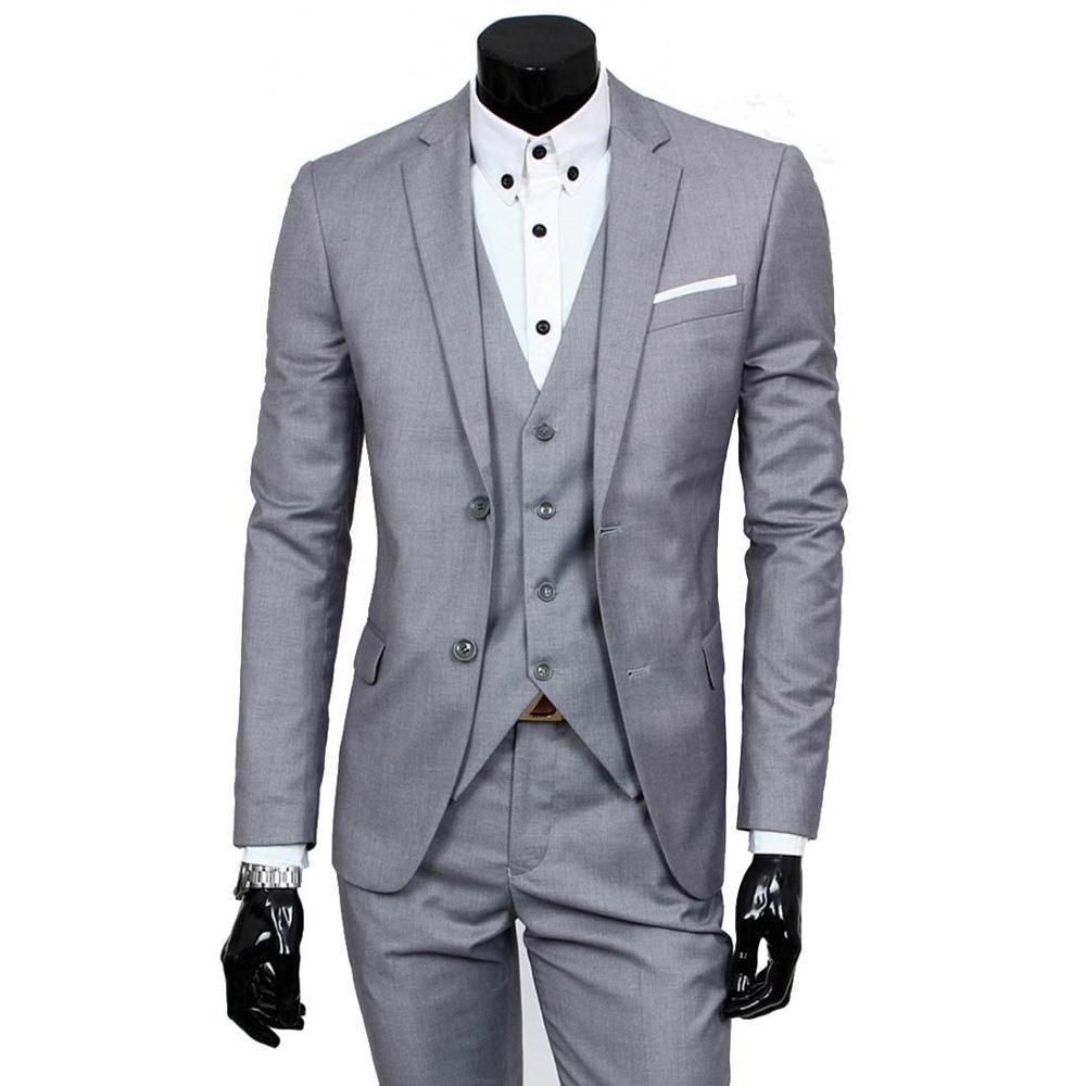 معطف عالي الجودة لربيع وخريف 2021 عالي الجودة مناسب للأعمال مكون من ثلاث قطع ملابس رجال ورعاة فستان بدلة زفاف XY05