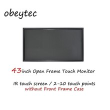 "Monitores de pantalla lcd IR Industrial de 43 ""FHD, 2-6 puntos, 7*24 horas de trabajo, FHD, 350 nits, OB430-IBK03"