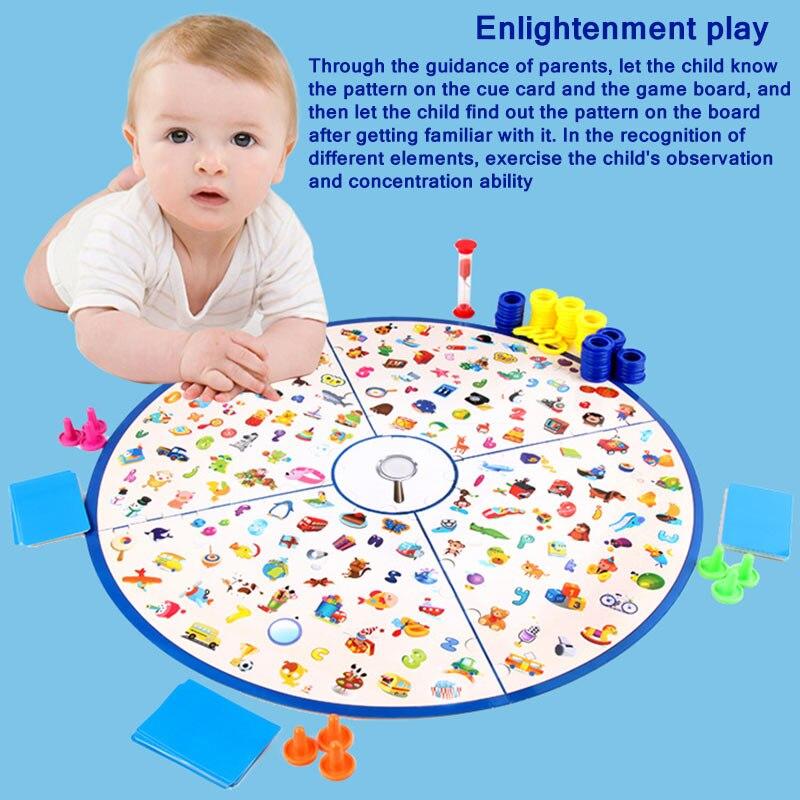 لعبة ألغاز مونتيسوري التعليمية للأطفال ، مجموعة من الألغاز التعليمية لتدريب الدماغ ، لعبة لوح التعلم ، هدايا الكريسماس