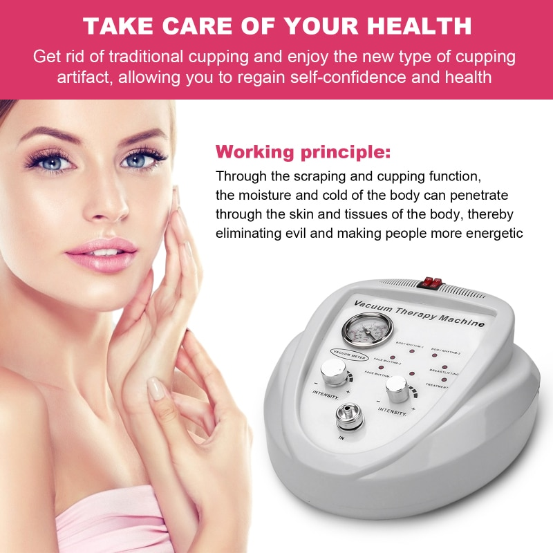 AUPORO Vacuum Therapy Massage Multi-Function Cupping-Therapy Sets Vacuum Cupping Scraping Body Shape Massage Machine electric breast massager chest enlarger enhancer vacuum meridian therapy body scraping cupping anti cellulite massage machine