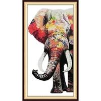 joysunday animal print cross stitch kit color elephant 14ct needlework embroidery kit diy home decoration painting handmade gift