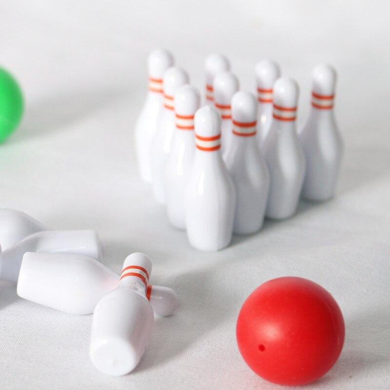 1 комплект 1:12 миниатюрный набор для боулинга для кукольного домика, модель, уличная игрушка, аксессуары, имитация спортивных товаров