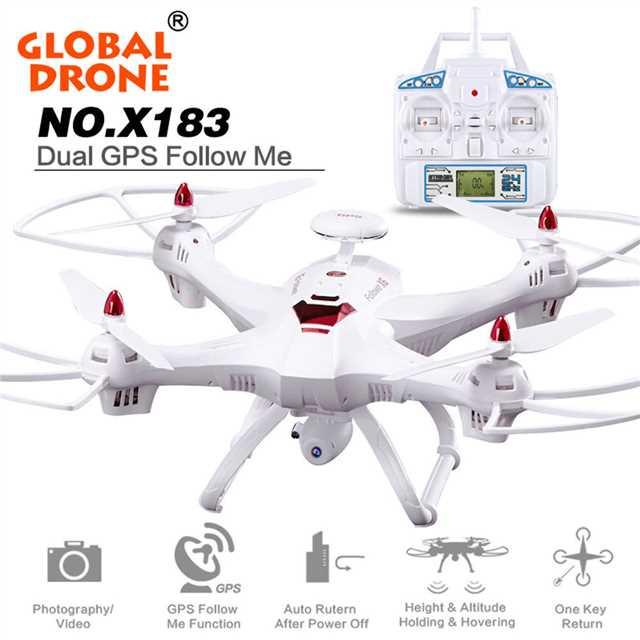 L107 Dual GPS Me sigue phoota WIFI FPV Drone RC Drone helicóptero de 400M 1080P Cámara gran angular de posición GPS quadcopter del X183