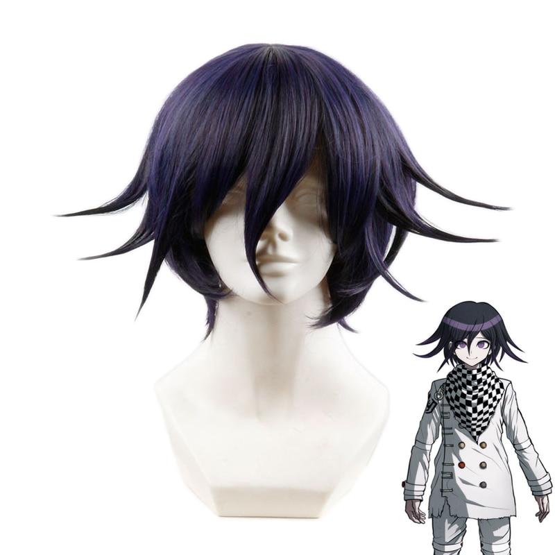 Anime Danganronpa V3 Killing Harmony Ouma Kokichi Short Wig Cosplay Costume Dangan Ronpa Heat Resistant Synthetic Hair Men Wigs