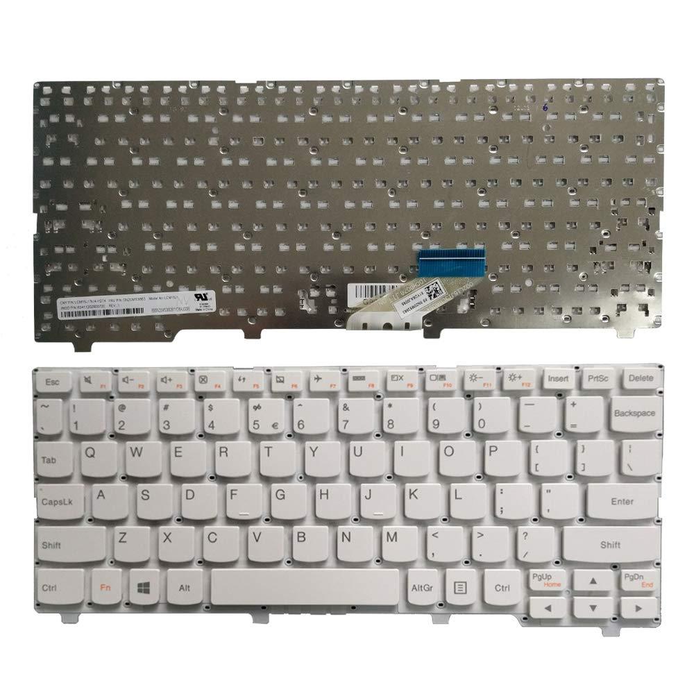 Новая клавиатура для ноутбука, подходит для lenovo IdeaPad 110S-11IBR 110S-11AST 5N20M53663 LCM15J13U4-H274 63411202900700 US раскладка (белый)