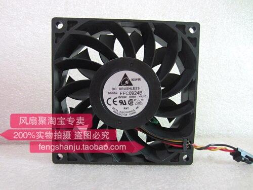 Delta Original FFC0924B 24V 0.60A 9CM 9225 temperatura controlada gran volumen de aire ventilador de refrigeración