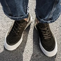 2021 men casual sneakers solid color thick bottom comfortable round head outdoor non slip breathable lace up spring men shoes