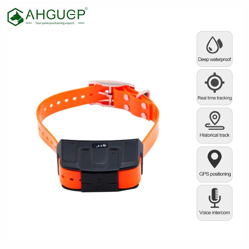 Hound GPS Tracker IP68 Deep Waterproof Real Time Tracking Security Fence Anti Collision Dog Locator Collar Rastreador