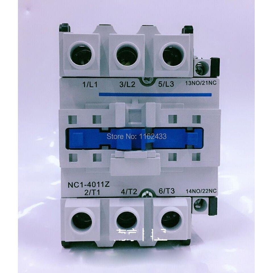 NC1-4011Z 40A 24 فولت 3P NO + NC تيار مستمر قواطع NC1 سلسلة المقاول