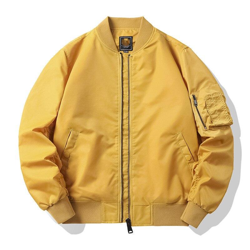 Уличная одежда, военная куртка, Классическая куртка-бомбер Ma1, мужская бейсбольная форма большого размера, облегающая куртка, весна и осень ...
