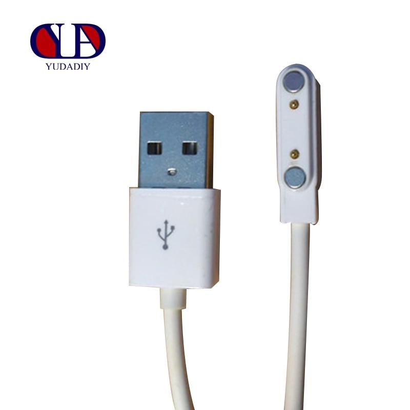 Smart Watch o pulseras inteligentes Cable de línea de carga imán de succión de 2 pines 7,62mm interfaz USB cargadores de respaldo de emergencia