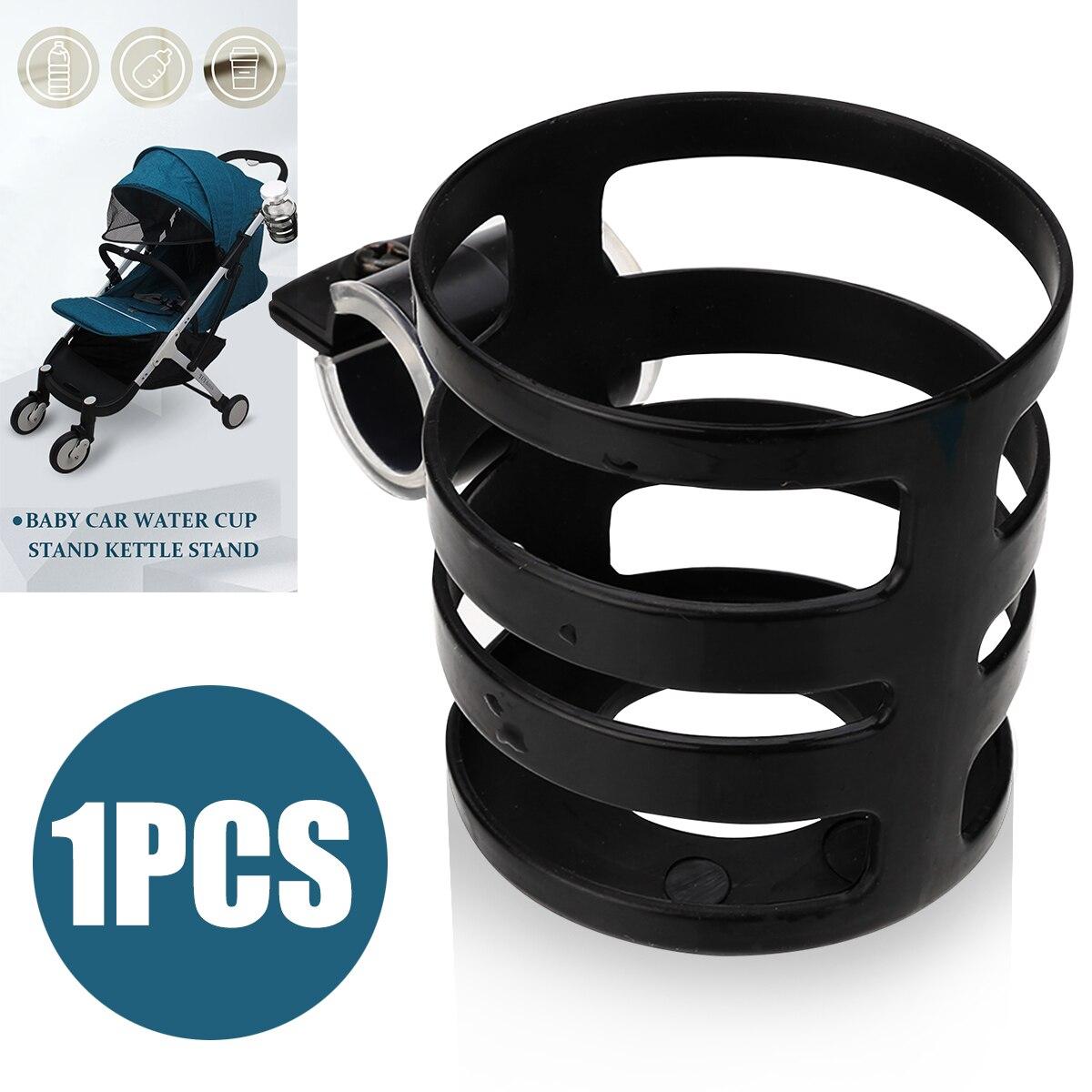 1PC Schwarz PP Baby Kinderwagen Kinderwagen Cup-Halter-Stand Fahrrad Milch Flasche Getränk Rack Für Fahrrad Kinderwagen Zubehör