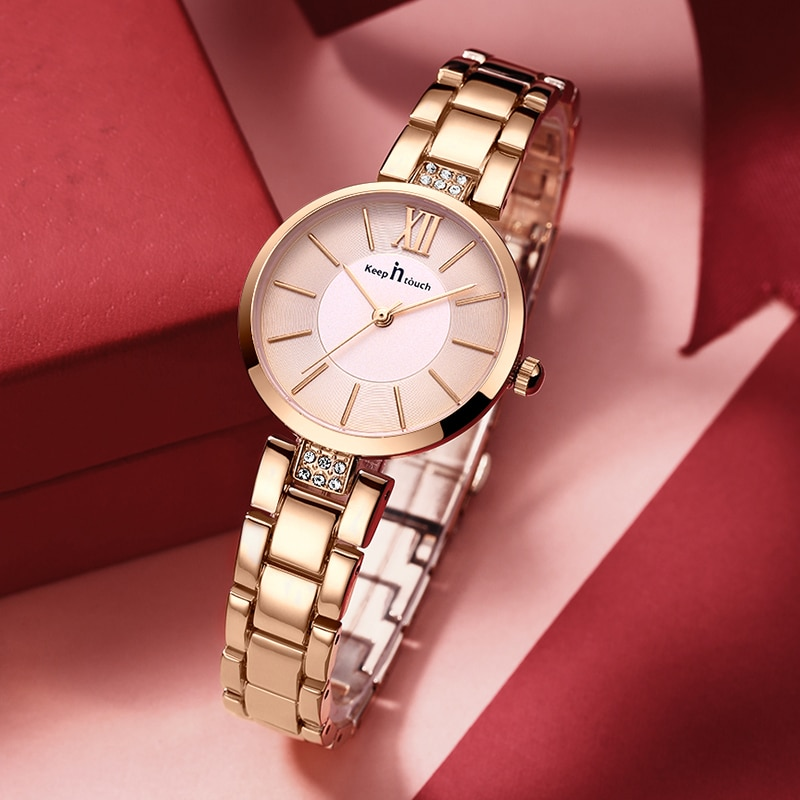 Relógio de Pulso Feminino de Cristal Marca de Luxo Diamante Pulseira Feminino Senhoras Famosas Quartzo Montre Femme