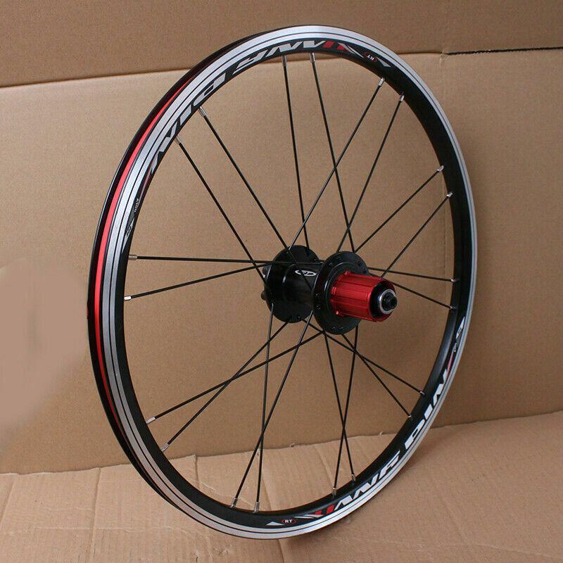 "BMX/Folding 20"" Bike Wheels Front Rear Road Bike Wheelset 100/135mm V&Disc Brake 451/406 7-10s Aluminum Rims Bicycle Wheelset"