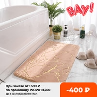 Нескользящие коврики для ванной, супервпитывающие мягкие коврики из искусственного кроличьего меха для душа, ванной комнаты, туалета, дома...