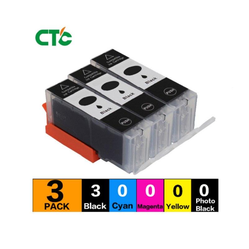 3 Compitalbe Cartucho de Tinta preta Para Impressora Canon 570 571 PGI-570 PGI570 CLI571 PIXMA MG5750 MG5751 MG5753 MG6850 MG6851 MG6852 MG6853