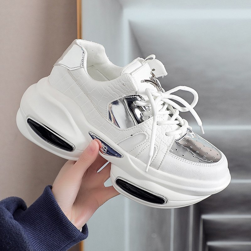 Sneakers Women Vulcanized Shoes Fashion Wedges Thick Bottom Zapatillas Mujer Ladies Trainers Chunky Sneakers Woman Basket Femme