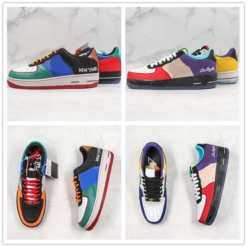 2020 lo que LA NYC Forced bajo 1 07 costura Graffiti hombres mujeres diseñador Forced Sports Sneakers plataforma zapatillas tamaño 36-46