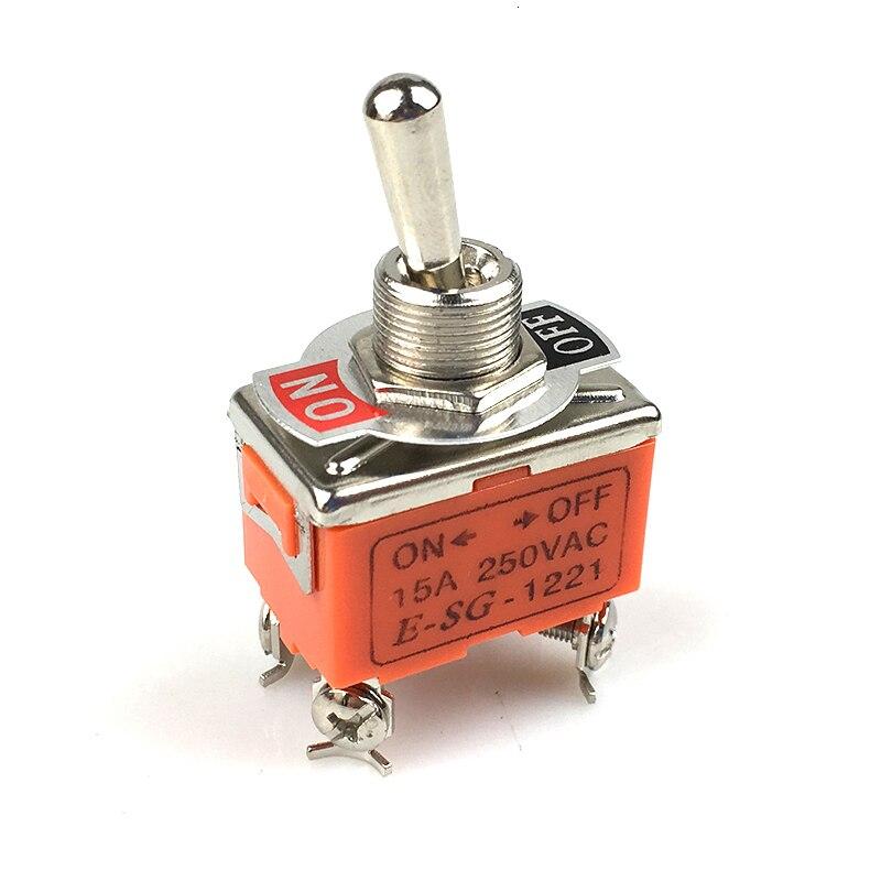 1 Pçs/set 15A Elétrica Mini Toggle Switch AC 250V Amps On/Off Posição DPST 2 4 Screw Terminals Toggle Switches 33*20*20mm