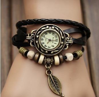 bracelet watch female students children leaf pendant quartz watch manufacturer wholesale restoring a