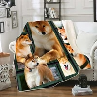 funny dog 3d printed fleece blanket for beds hiking picnic thick quilt fashionable bedspread sherpa throw blanket