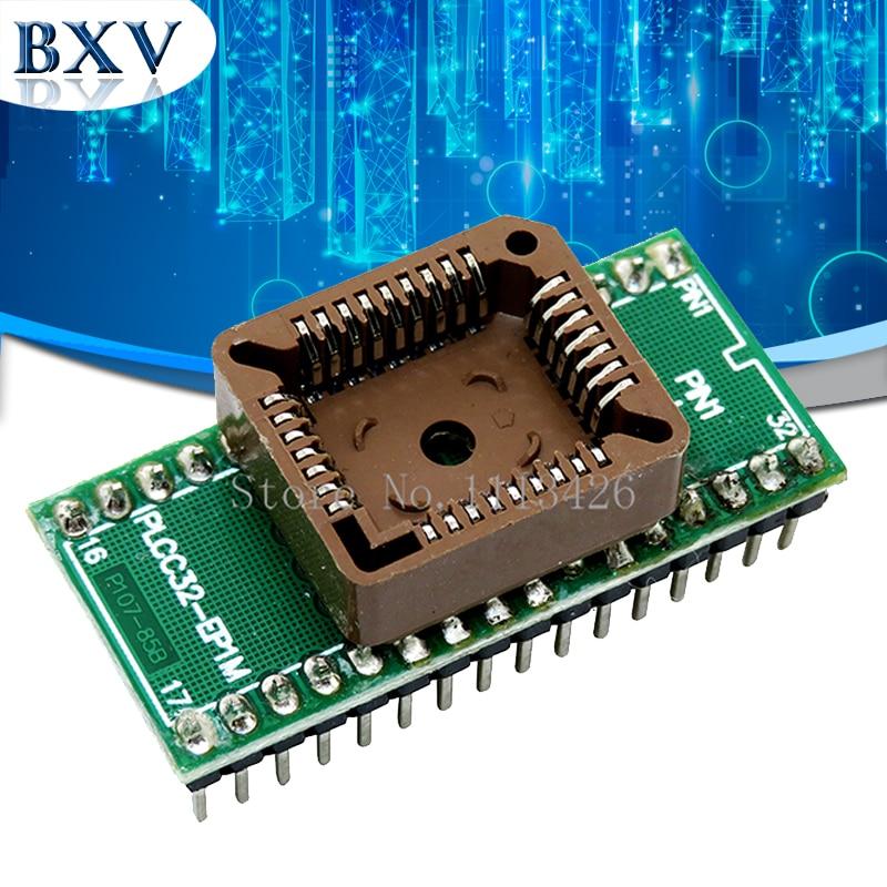 PLCC32 a DIP32 programador Universal USB adaptador de circuito integrado enchufe de prueba para TL866CS TL866A EZP2010 G540 SP300 bxv