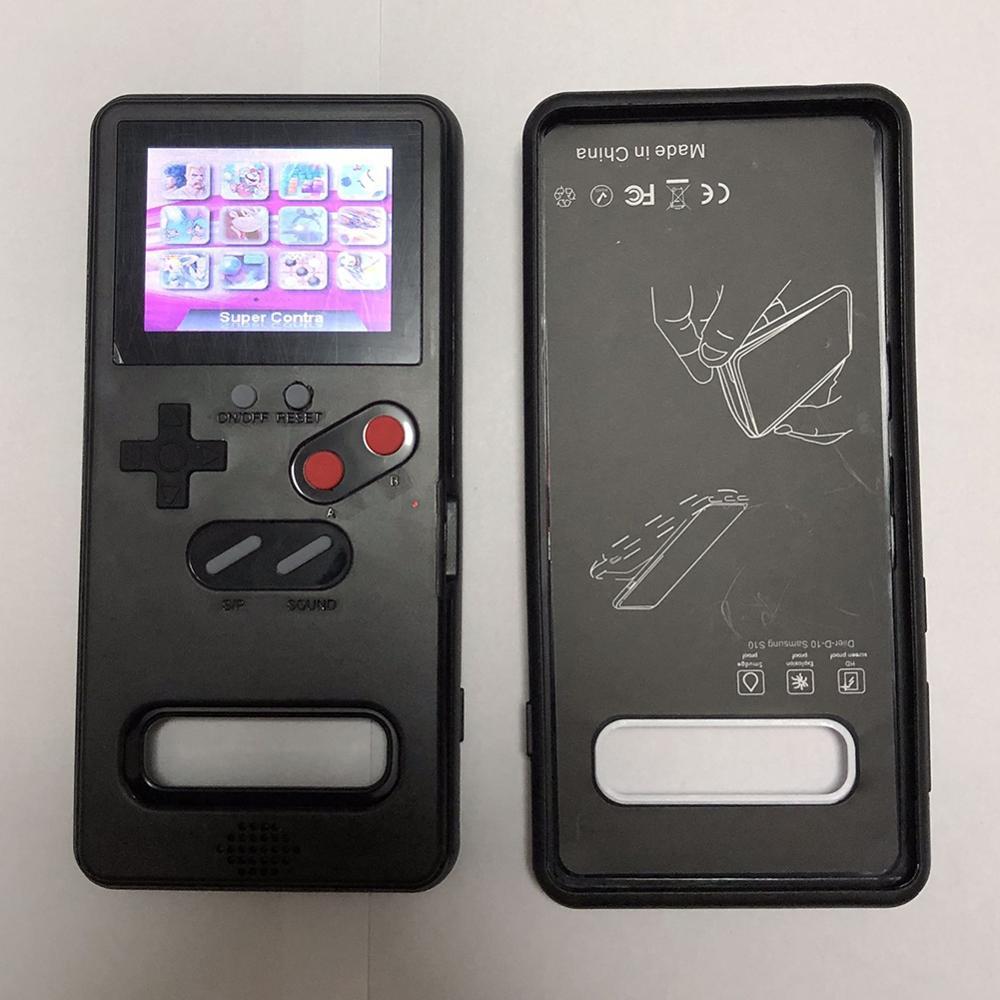 Para Samsung Galaxy S10 clásico teléfono caso juego pantalla Retro juego de consola Vintage Gameboy juego de pantalla caso
