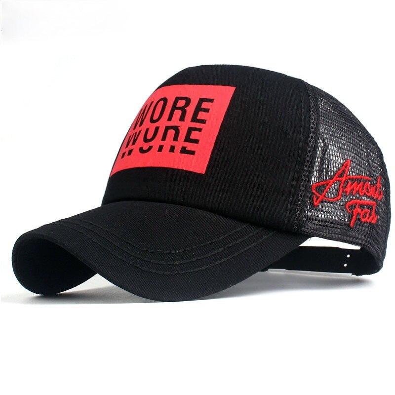 Новый Для Мужчин's Бейсбол Кепки принт летние сетчатые Кепки головные уборы для мужчин и женщин Для мужчин Wo Для мужчин Snapback шапки мужские и ...