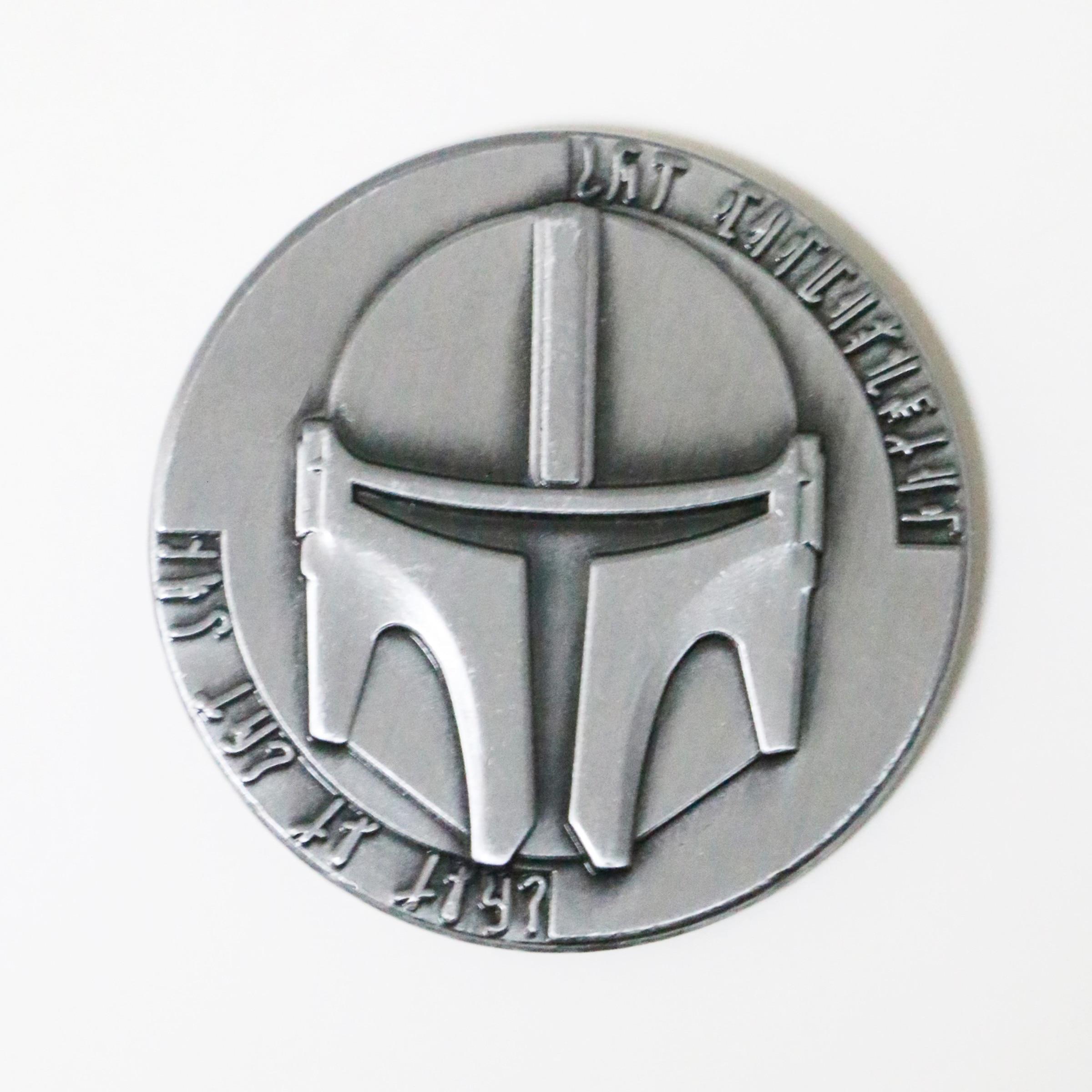Película Star Wars, The Mandalorian, colección de monedas de Metal, Boba Fett, accesorios, regalo de recuerdo