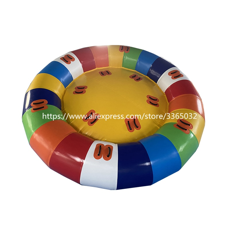 Juguete acuático inflable Disco barco remolcable/inflable Disco volador barco para deportes acuáticos