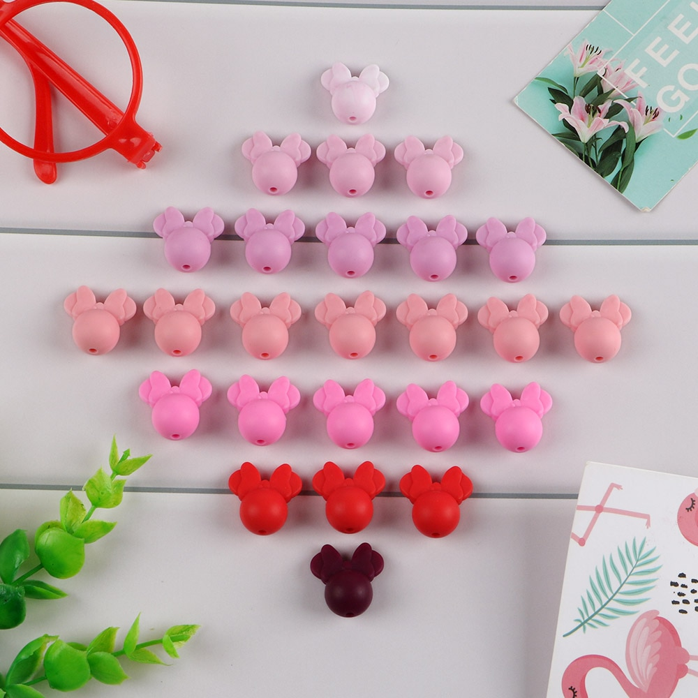 AliExpress - Kovict 10pcs  Baby Teething Beads Food Grade Cartoon Mouse Shape Beads For Necklaces BPA Free Baby Teether Toy Nursing