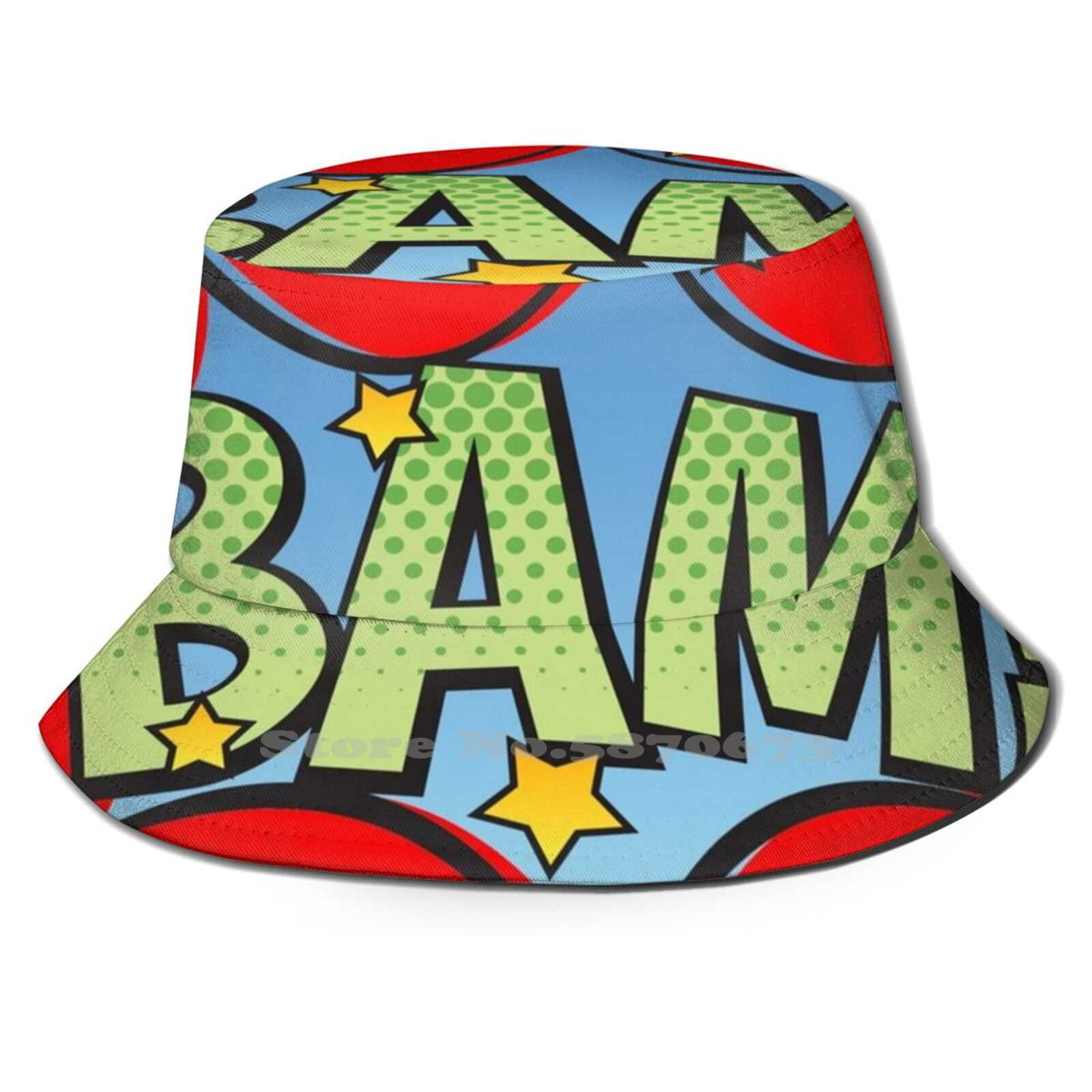 Bam! Outdoor Sun Fishing Panama Hats Cosplay Love Friend Superhero Shazam Dark Horse Ironman Incredibles Cartoon Cloud Rain